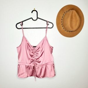 Abercrombie&Fitch Size XL Pink Ruffled Strappy Top